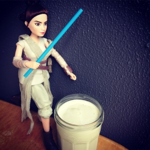 Green milk milkshake