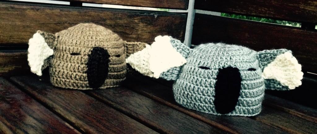 Crocheted Koala Hats