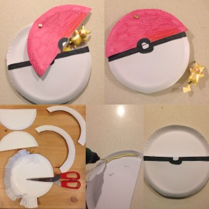 Pokeball Paper plate craft