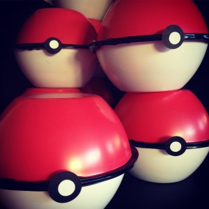 Pokeball party favors