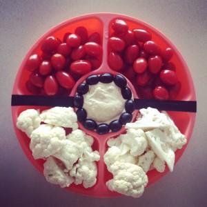 Pokeball veggie tray party food